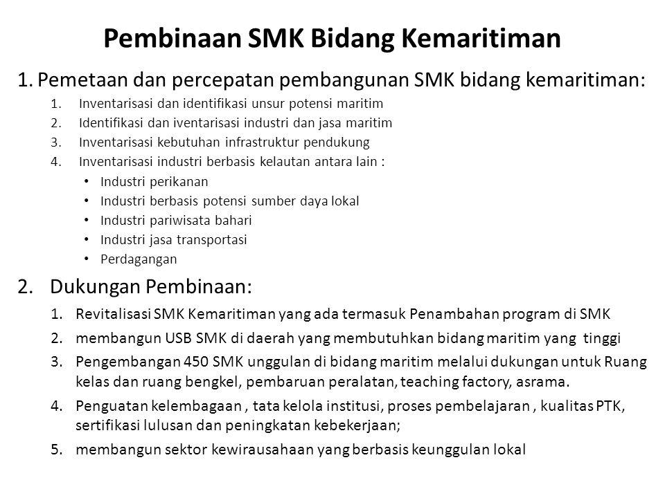 Pembinaan SMK Bidang Kemaritiman