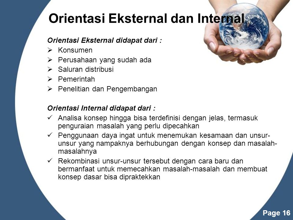 Orientasi Eksternal dan Internal