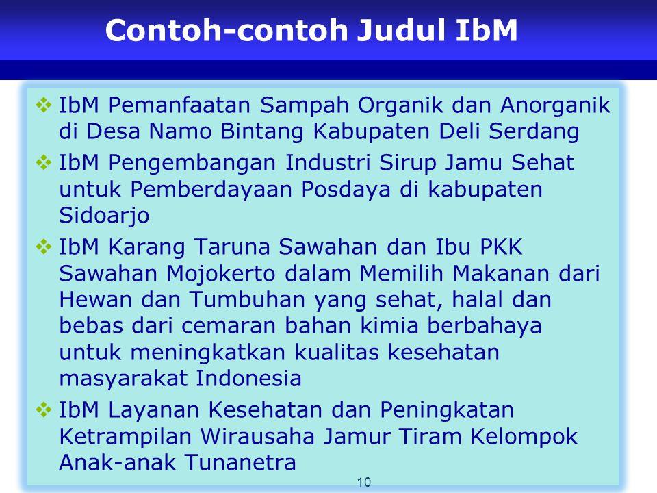 Contoh-contoh Judul IbM