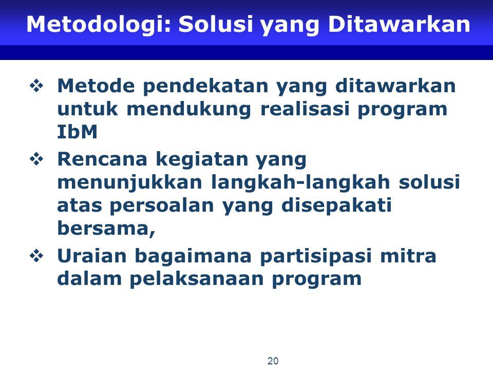 Metodologi: Solusi yang Ditawarkan