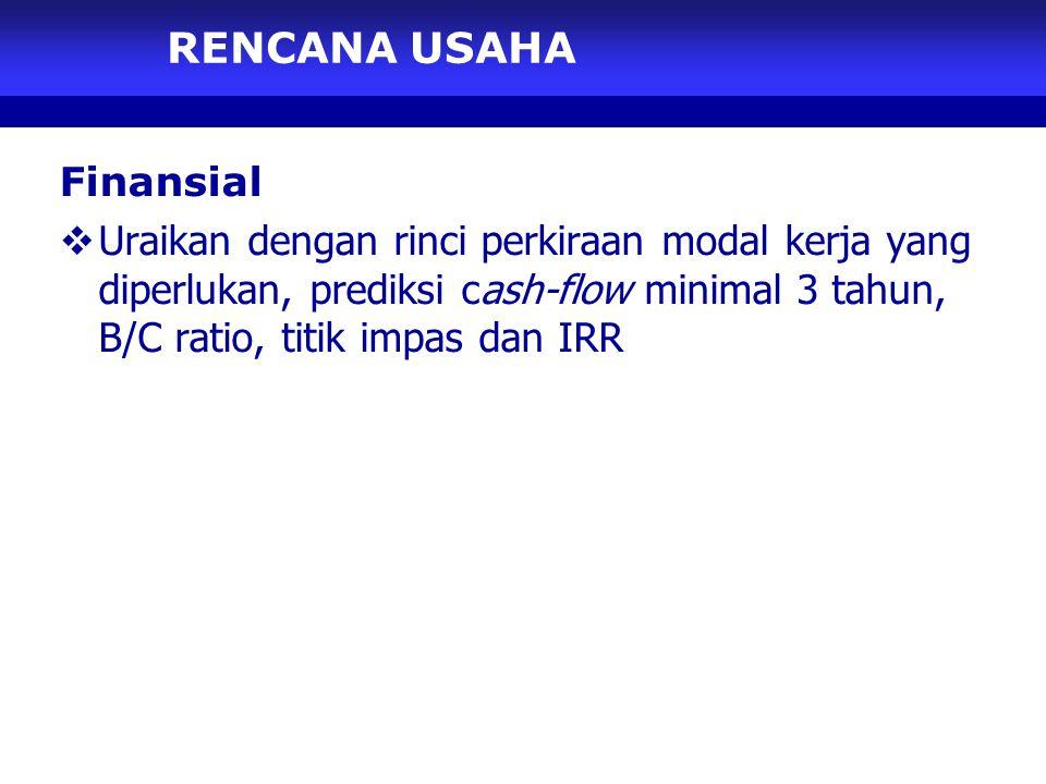 RENCANA USAHA Finansial