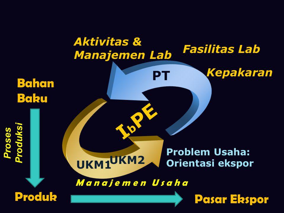 IbPE PT Bahan Baku Produk Pasar Ekspor Aktivitas & Manajemen Lab