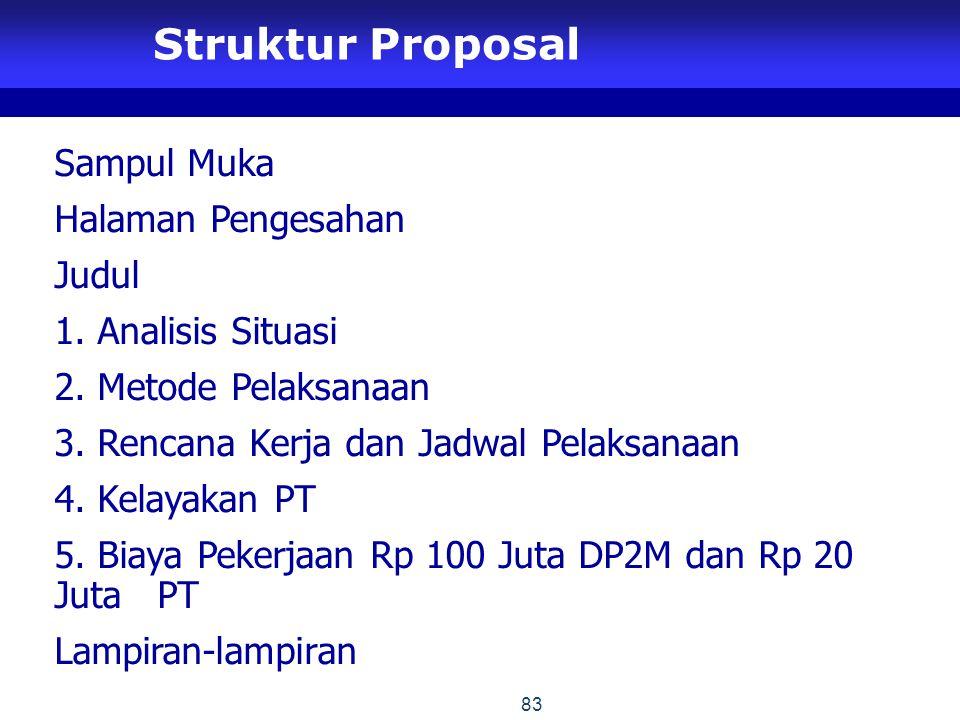 Struktur Proposal Sampul Muka Halaman Pengesahan Judul