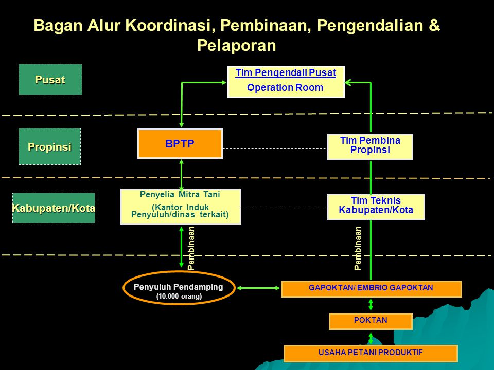 Bagan Alur Koordinasi, Pembinaan, Pengendalian & Pelaporan