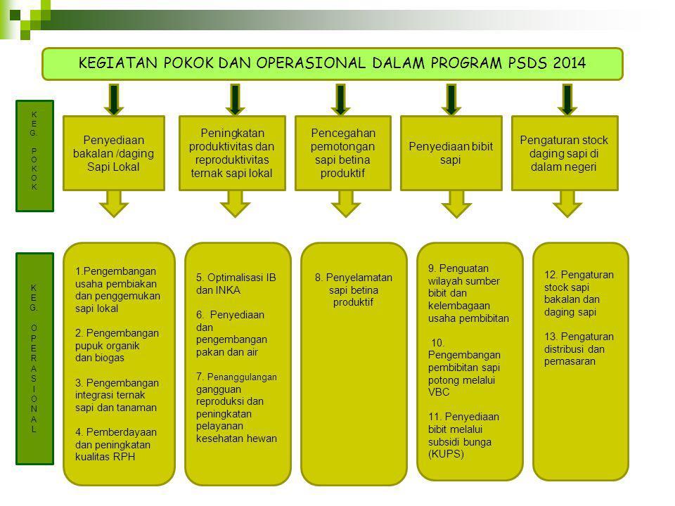 KEGIATAN POKOK DAN OPERASIONAL DALAM PROGRAM PSDS 2014