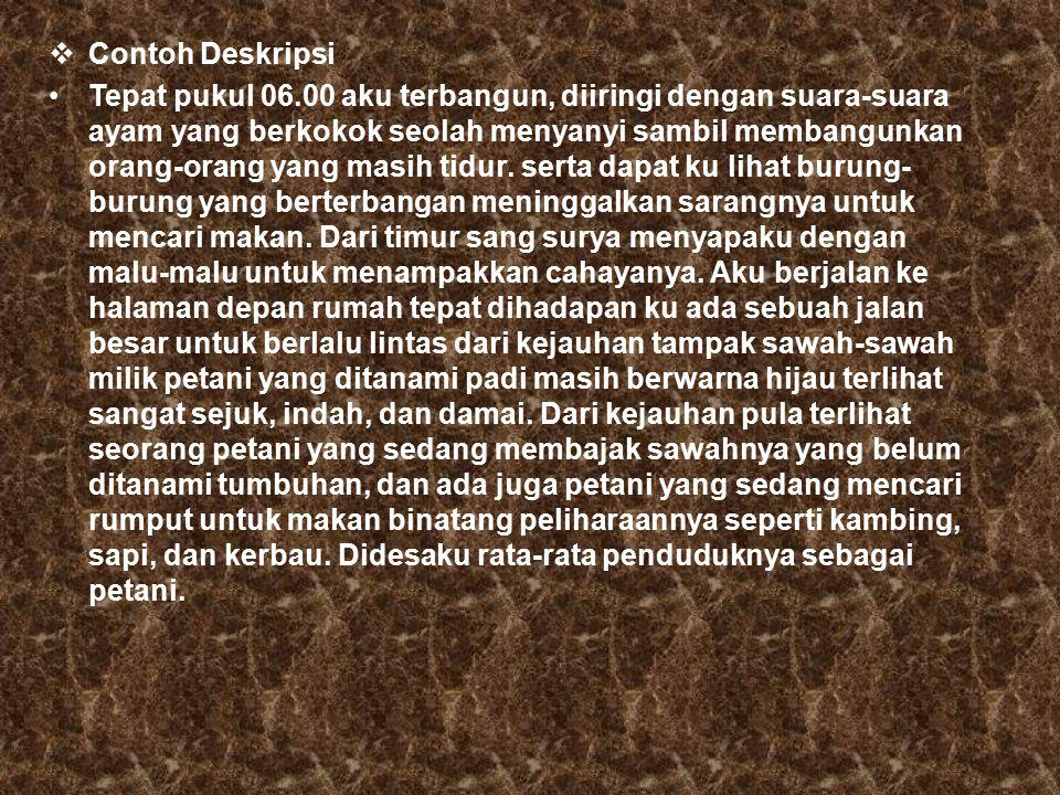 Contoh Deskripsi