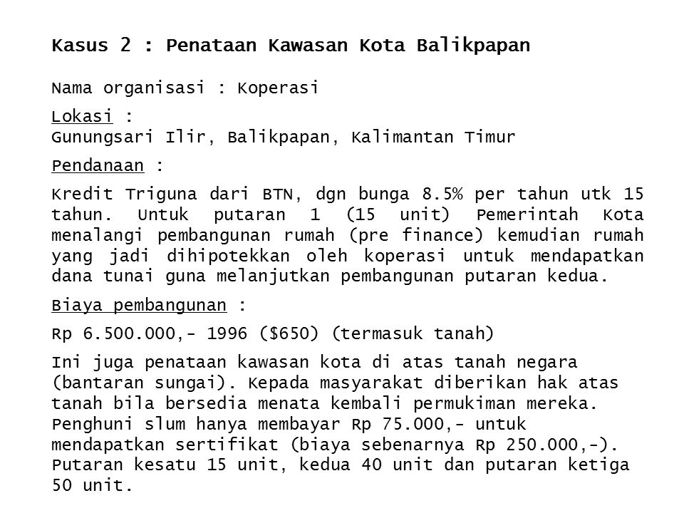 Kasus 2 : Penataan Kawasan Kota Balikpapan