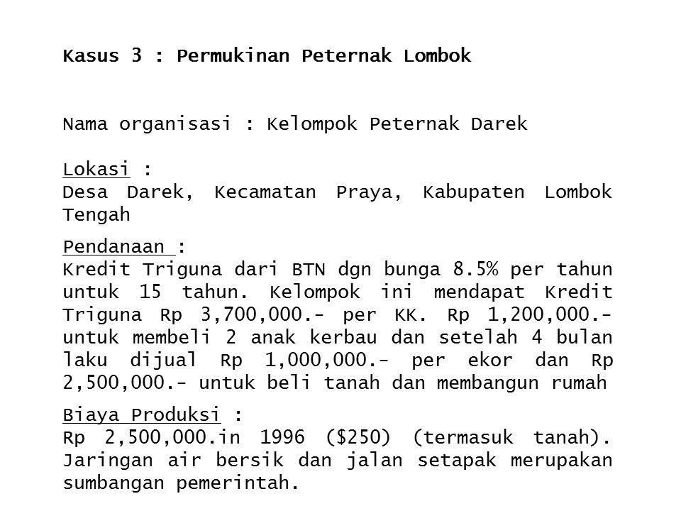 Kasus 3 : Permukinan Peternak Lombok