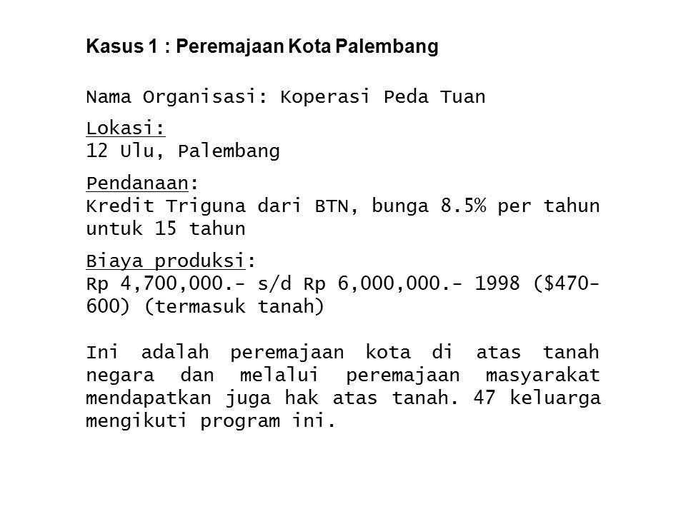 Kasus 1 : Peremajaan Kota Palembang
