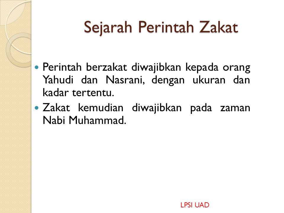 Sejarah Perintah Zakat