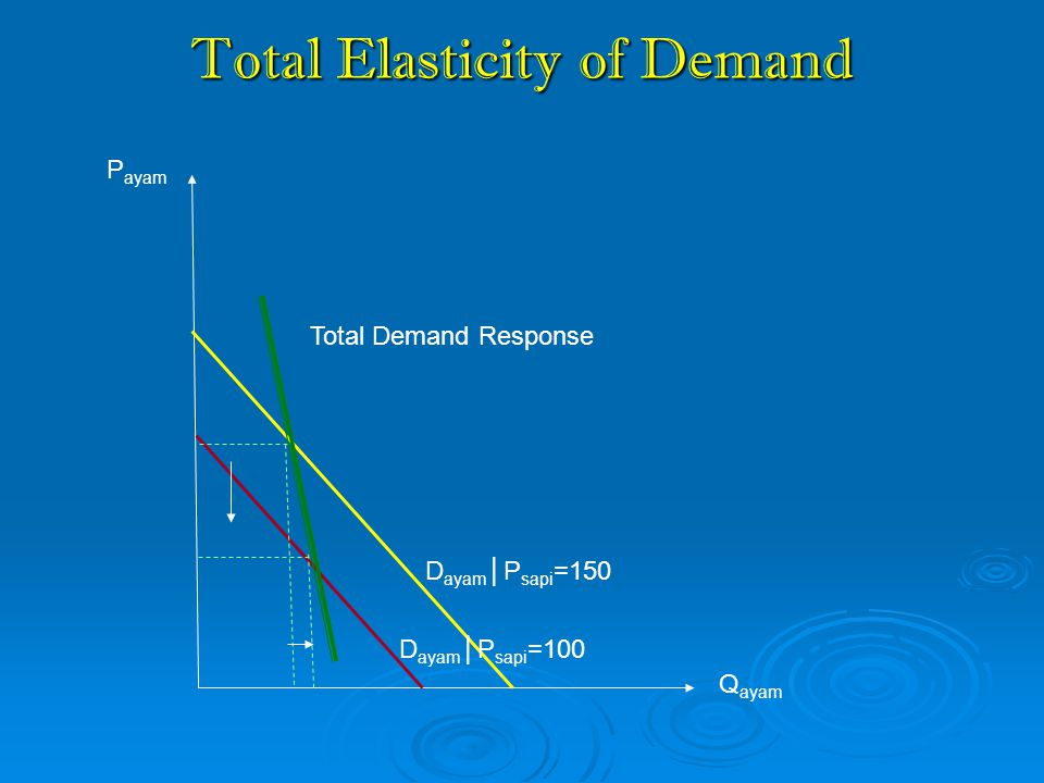 Total Elasticity of Demand