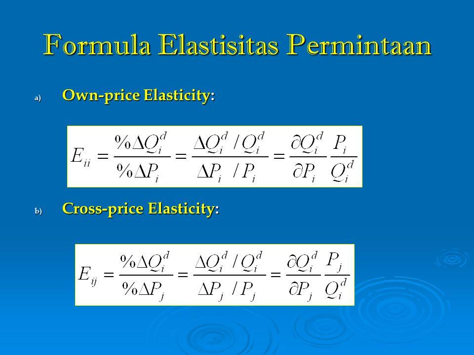 Formula Elastisitas Permintaan