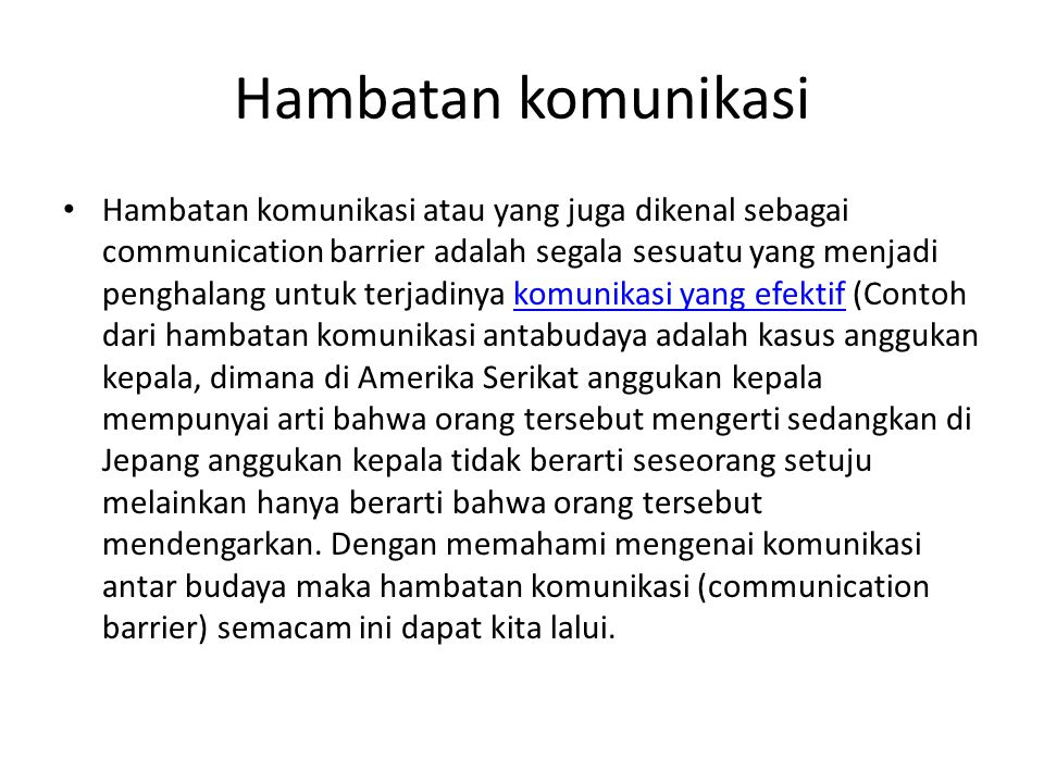 Hambatan komunikasi
