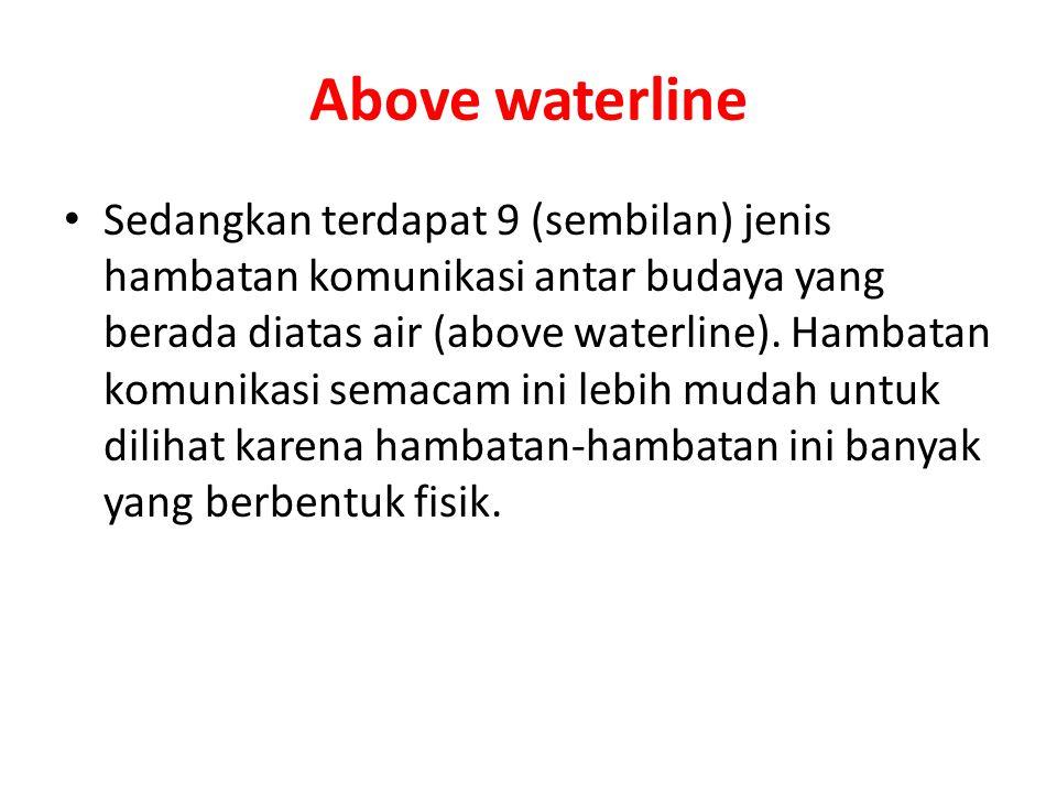 Above waterline