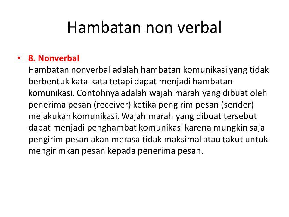 Hambatan non verbal