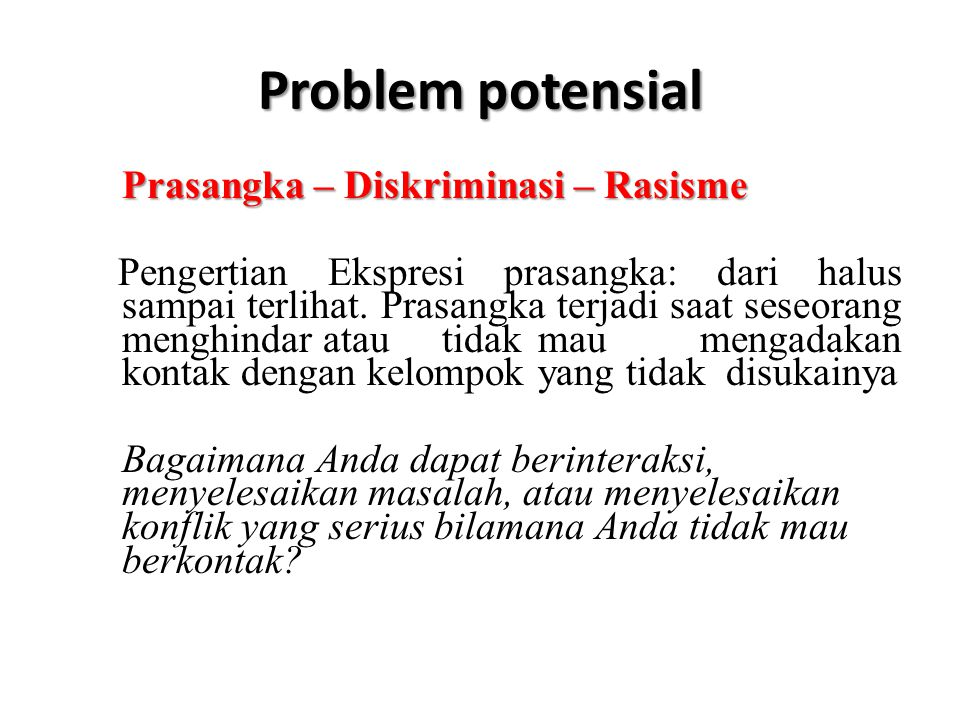 Problem potensial