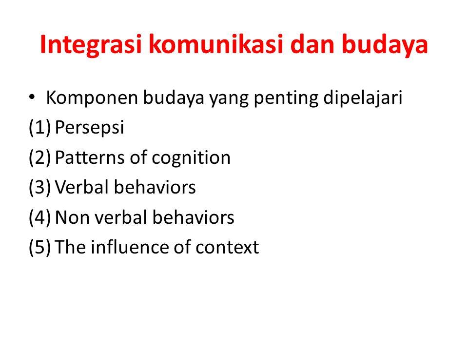 Integrasi komunikasi dan budaya