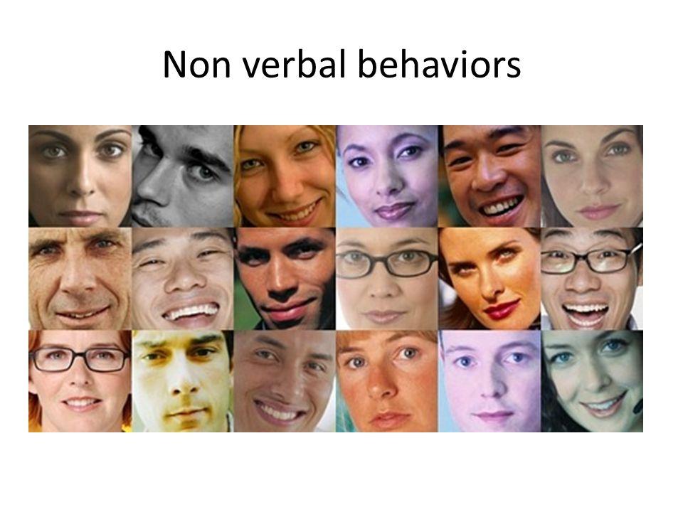 Non verbal behaviors