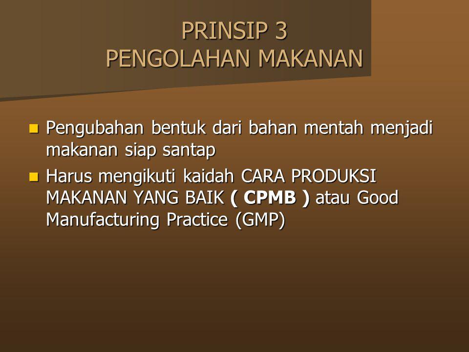 PRINSIP 3 PENGOLAHAN MAKANAN