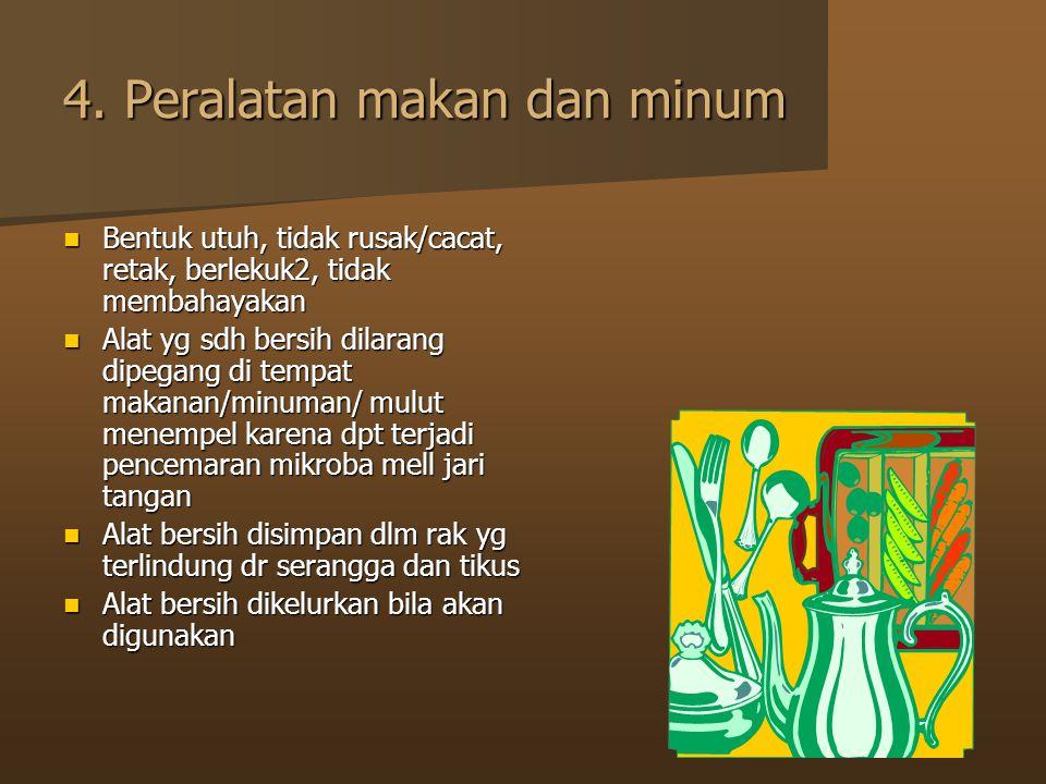 4. Peralatan makan dan minum