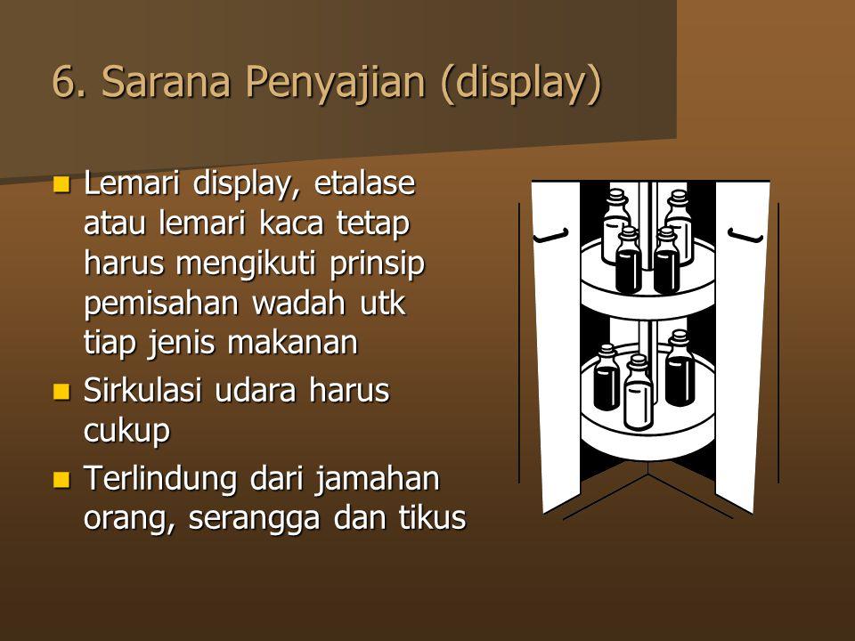 6. Sarana Penyajian (display)