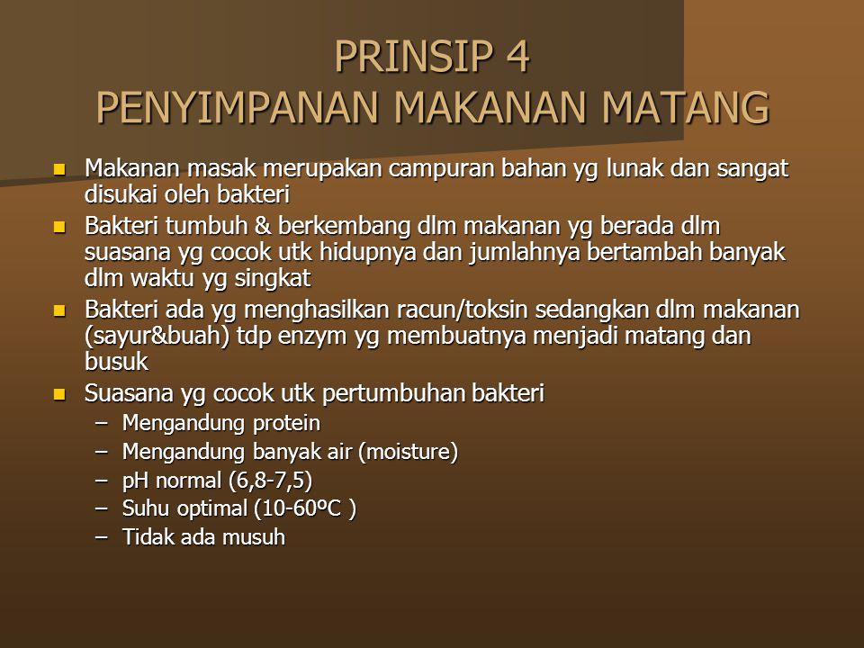 PRINSIP 4 PENYIMPANAN MAKANAN MATANG