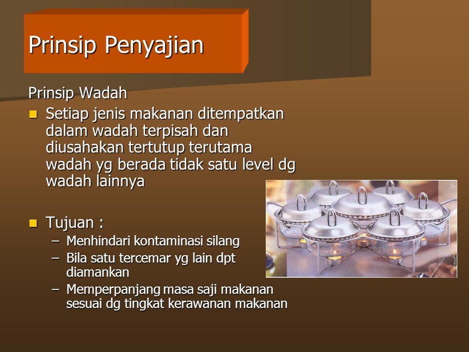 Prinsip Penyajian Prinsip Wadah