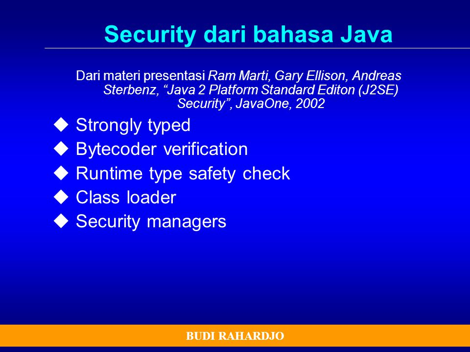 Security dari bahasa Java