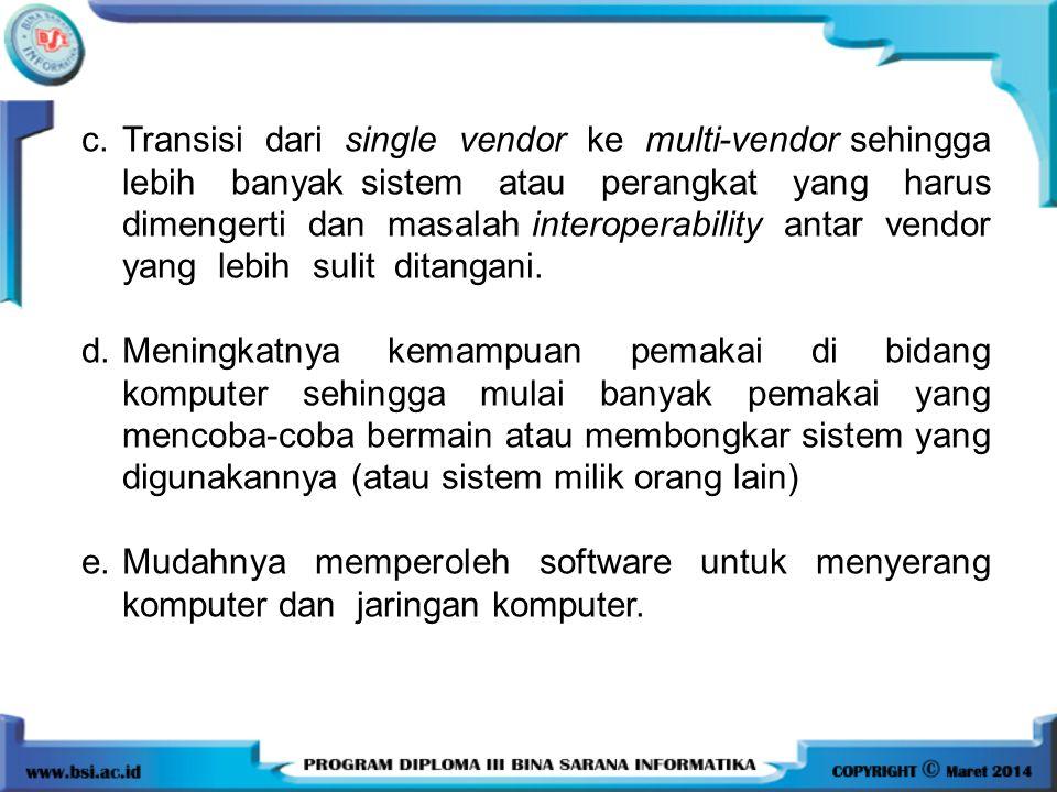 Transisi dari single vendor ke multi-vendor sehingga lebih banyak sistem atau perangkat yang harus dimengerti dan masalah interoperability antar vendor yang lebih sulit ditangani.