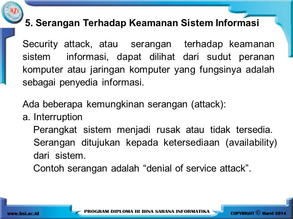 5. Serangan Terhadap Keamanan Sistem Informasi