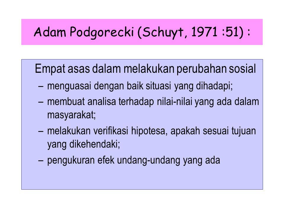 Adam Podgorecki (Schuyt, 1971 :51) :