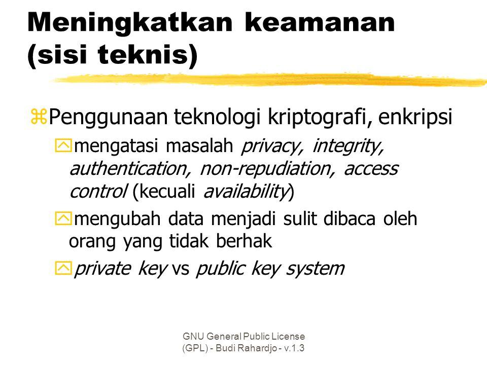 Meningkatkan keamanan (sisi teknis)