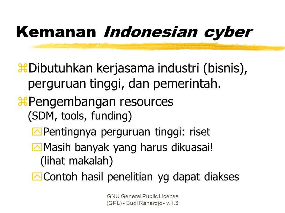 Kemanan Indonesian cyber