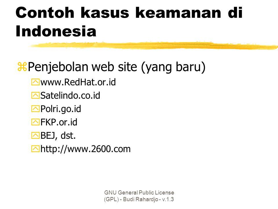 Contoh kasus keamanan di Indonesia