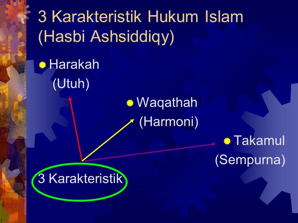 3 Karakteristik Hukum Islam (Hasbi Ashsiddiqy)