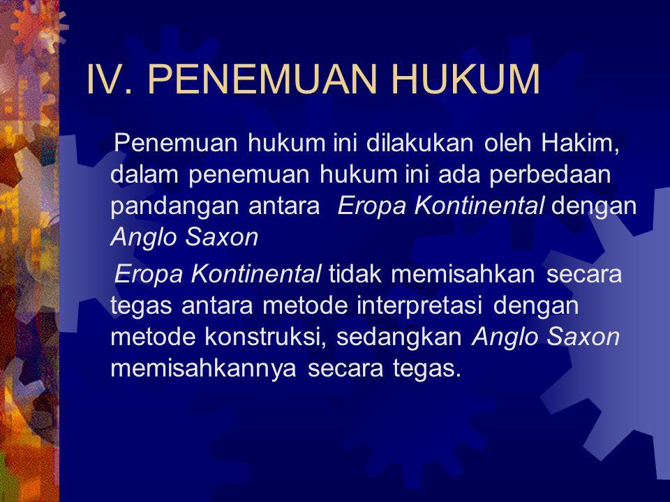 IV. PENEMUAN HUKUM