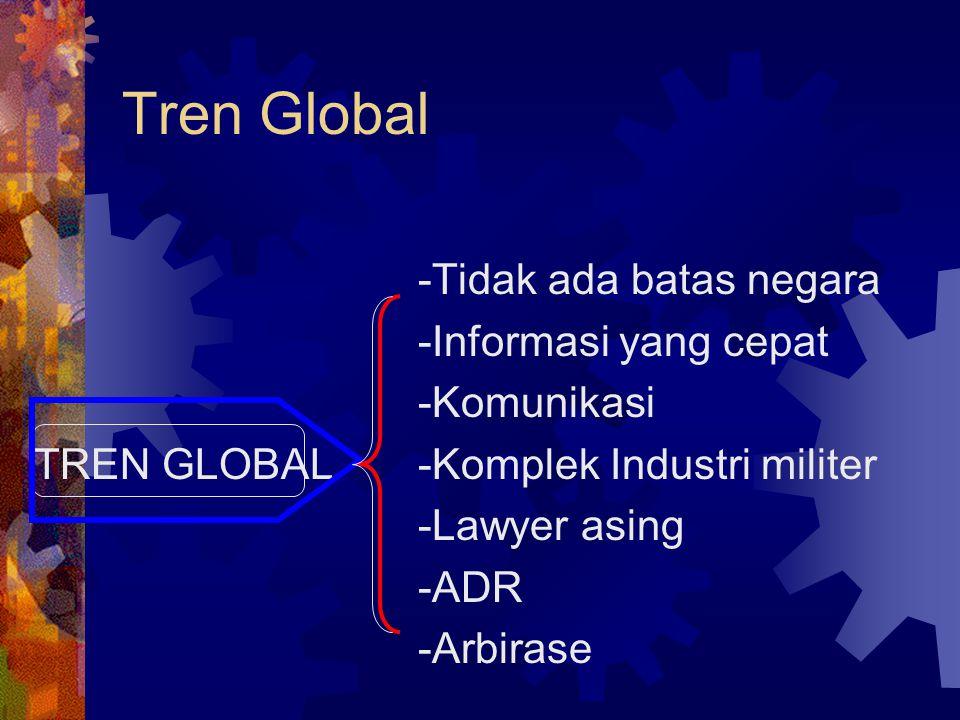 Tren Global -Tidak ada batas negara -Informasi yang cepat -Komunikasi