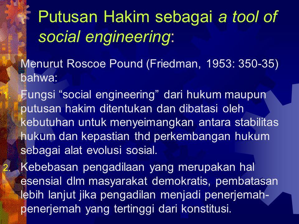 Putusan Hakim sebagai a tool of social engineering: