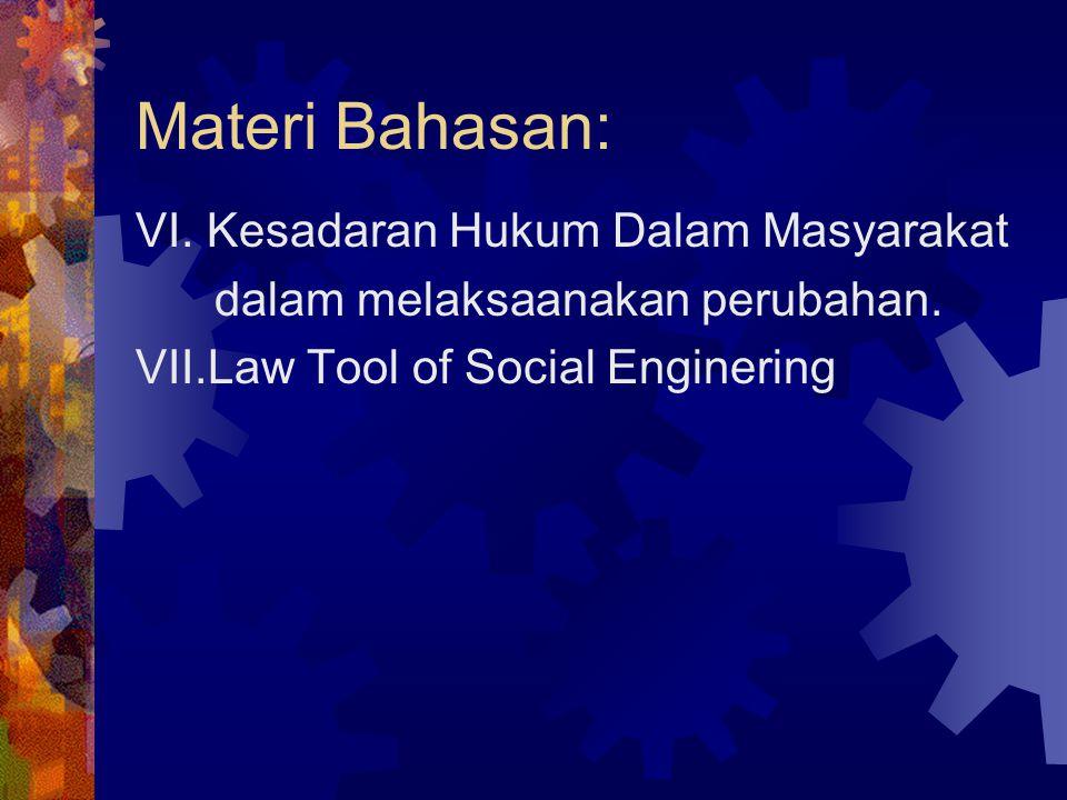 Materi Bahasan: VI. Kesadaran Hukum Dalam Masyarakat