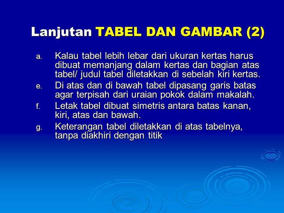Lanjutan TABEL DAN GAMBAR (2)