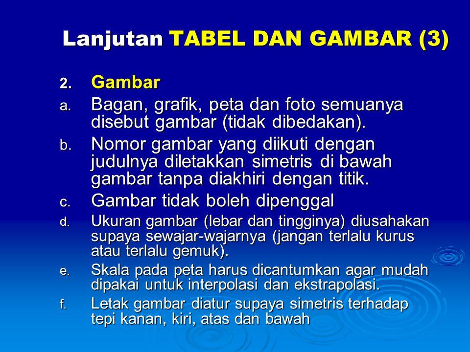Lanjutan TABEL DAN GAMBAR (3)
