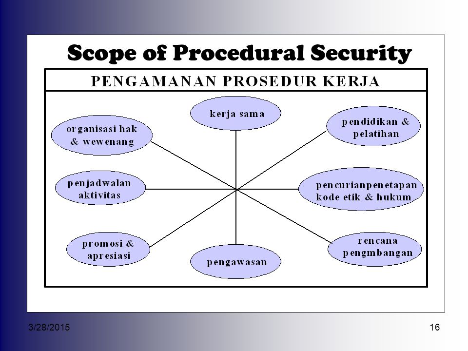 Scope of Procedural Security