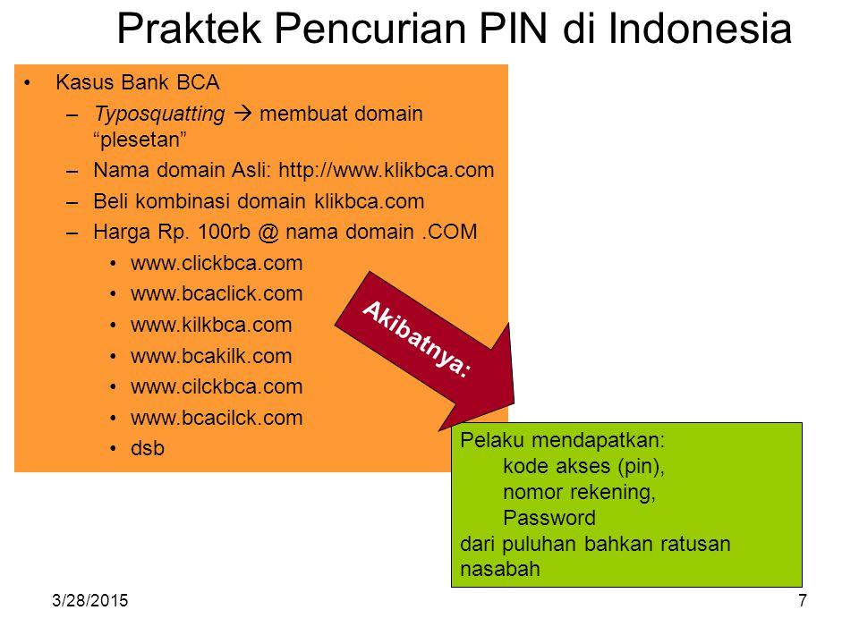 Praktek Pencurian PIN di Indonesia