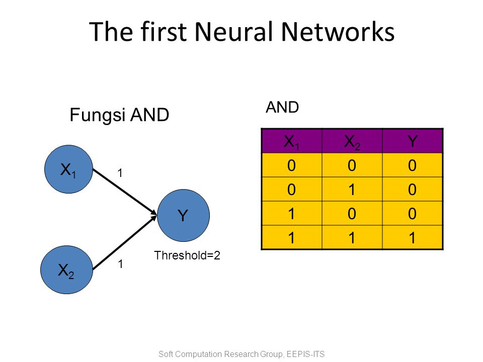 The first Neural Networks
