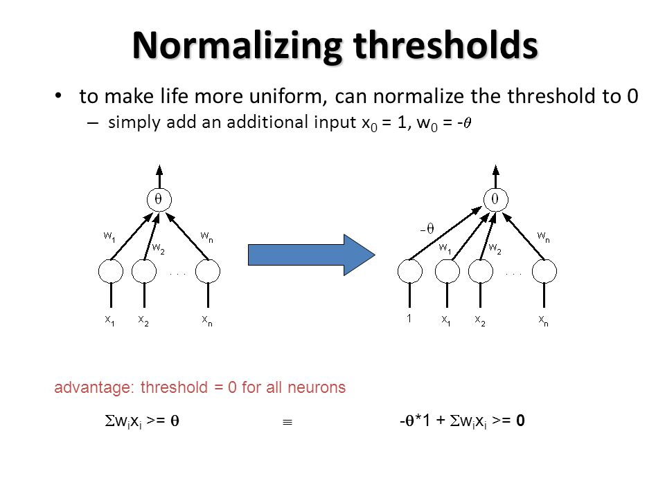 Normalizing thresholds