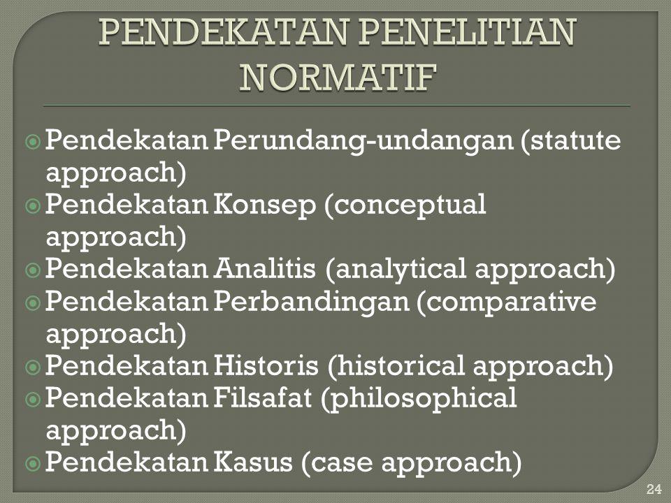 PENDEKATAN PENELITIAN NORMATIF