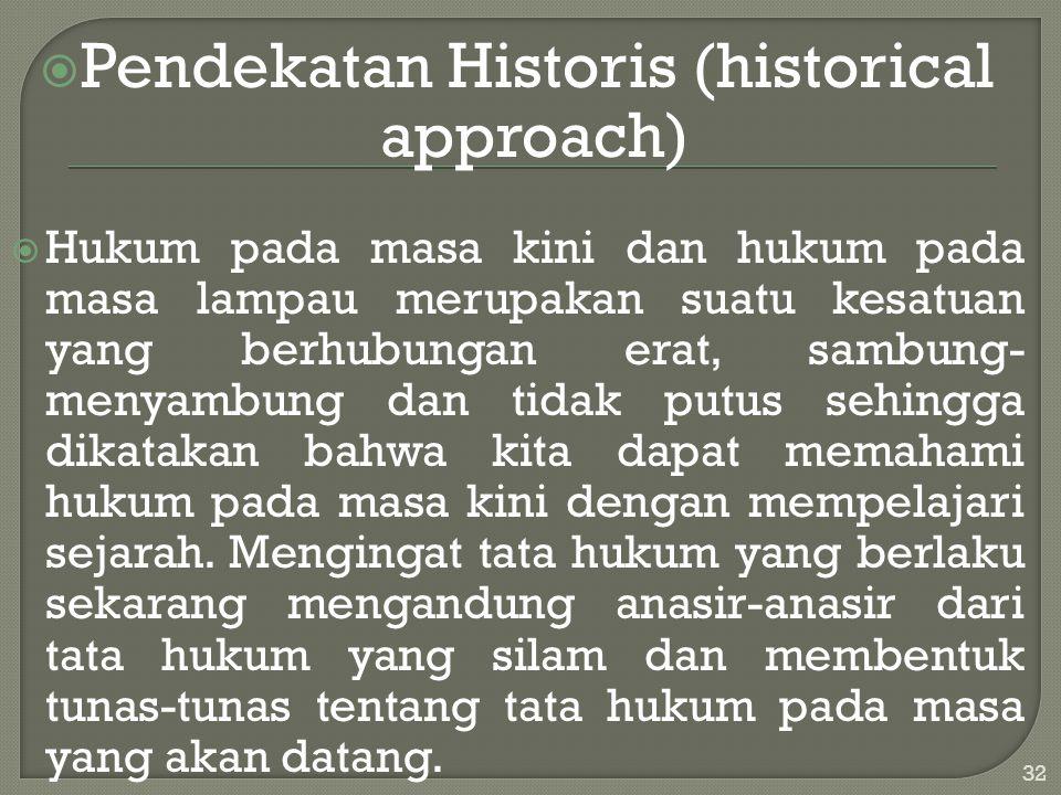 Pendekatan Historis (historical approach)