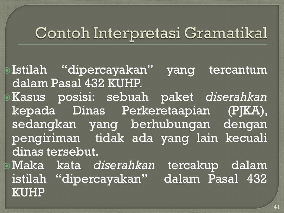 Contoh Interpretasi Gramatikal