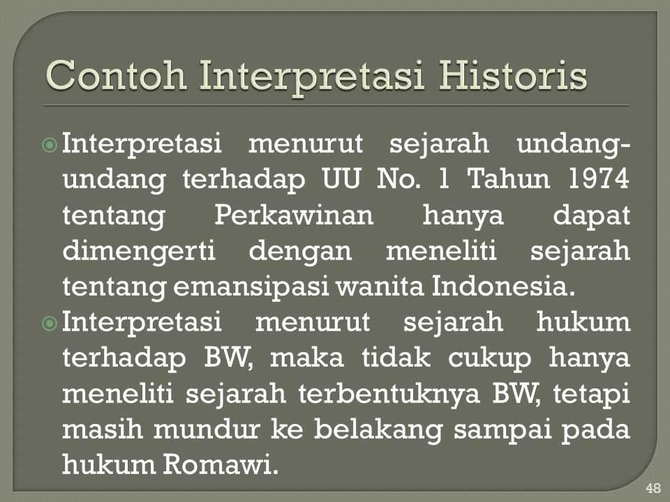 Contoh Interpretasi Historis
