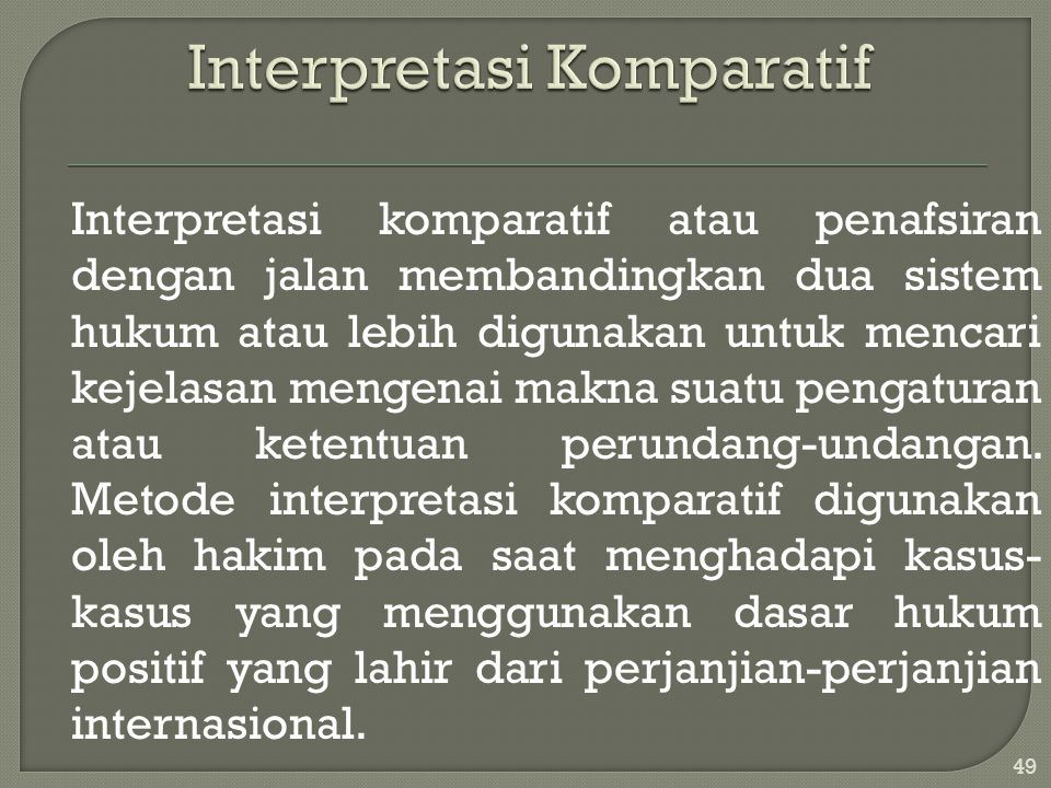 Interpretasi Komparatif